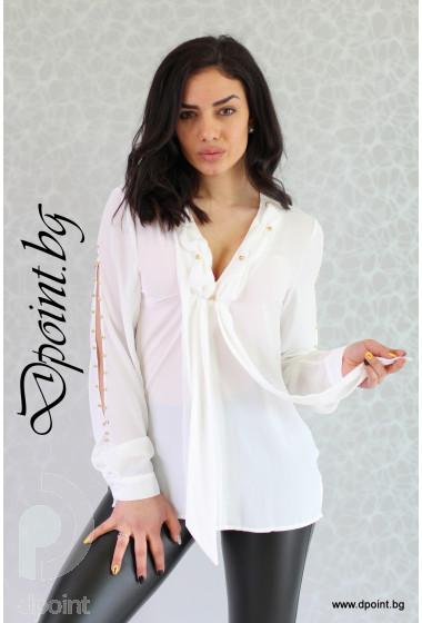 Дамска риза от шифон Кати