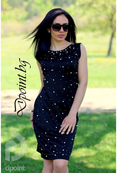 Елегантна рокля с перли Джулияна