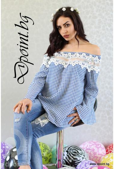 Нежна блуза с дантела Тифани