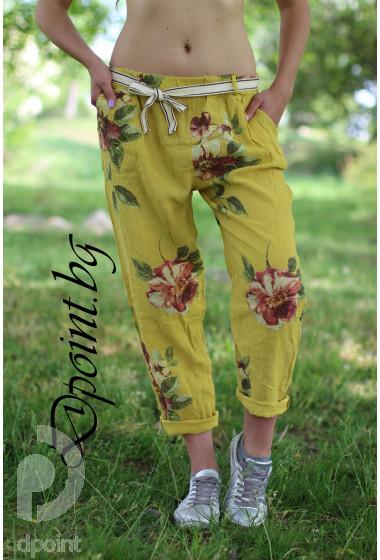 Дамски панталон от лен Бети