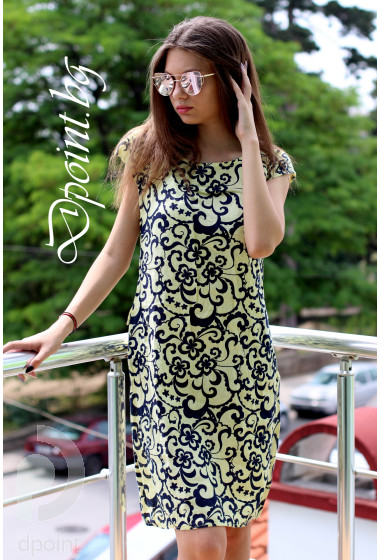Лятна рокля от лен Нели