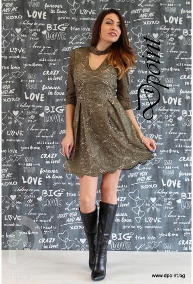 Елегантна рокля от дантела Биляна
