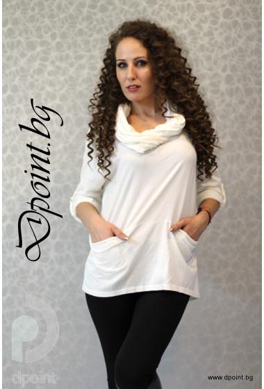 Дамска блуза с качулка Кати