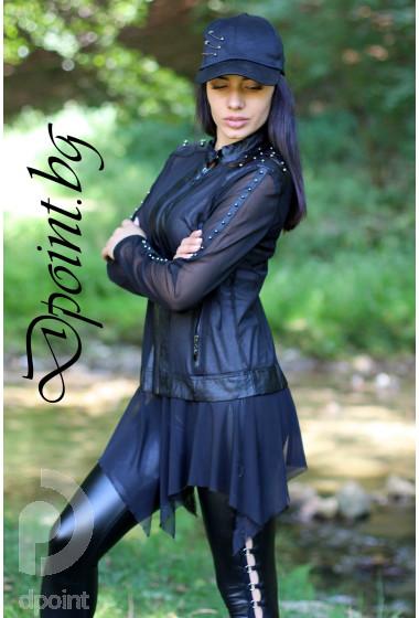 Екстравагантно дамско сако от тюл Анджи