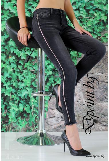Дамски черни дънки Лора
