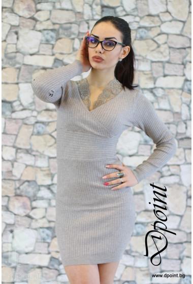 Рокля - туника от плетиво Стефани