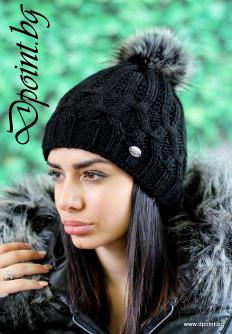 Актуална плетена шапка Дженифър