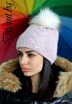 Зимна дамска шапка с плетеница Кимбърли