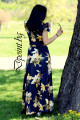 Дълга  лятна рокля с дантела Джулия