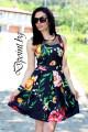 Лятна рокля на цветя Емили