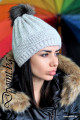 Актуална дамска шапка с пух Донна