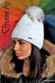 Зимна дамска плетена шапка Дебора