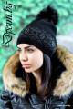 Дамска шапка с пух Джесика