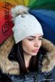 Плетена шапка с камъчета Стефани