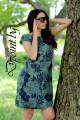 Дамска лятна рокля от лен Сияна
