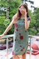 Лятна рокля от лен Мартина
