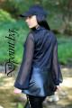 Дамско сако от кожа и тюл Джулияна