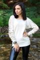 Блуза с дантела на ръкавите Тиара