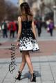 Елегантна рокля с яка Мира