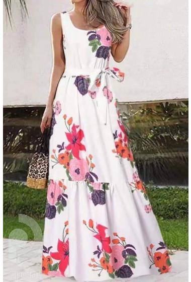 Красива лятна дълга рокля от лека материя Оливия