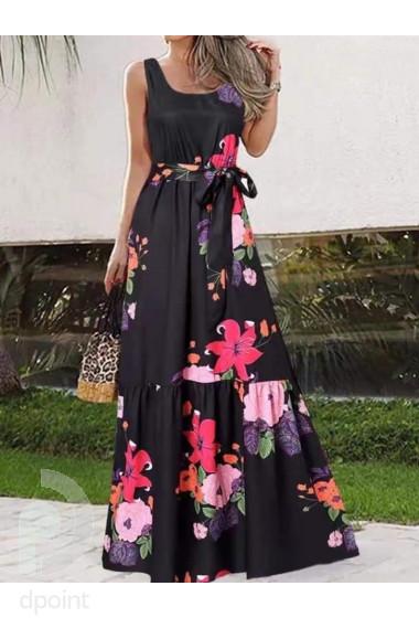 Ефектна дълга рокля на цветя Натали