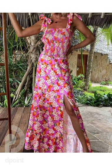 Дълга дамска рокля в красив десен Даяна