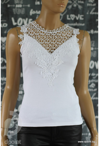 Лятна дамска блуза с дантела Дана