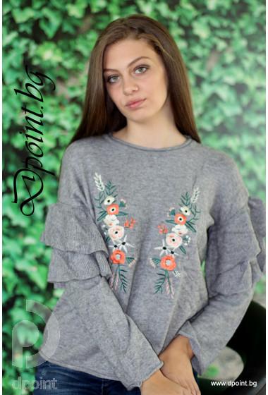 Блуза с цветя Берна