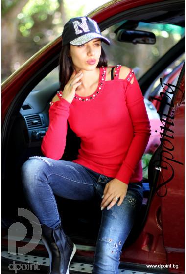 Дамска блуза с красиво деколте Сияна