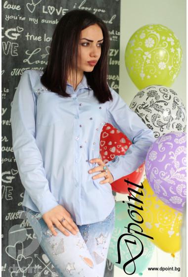 Дамска риза с перли Яна