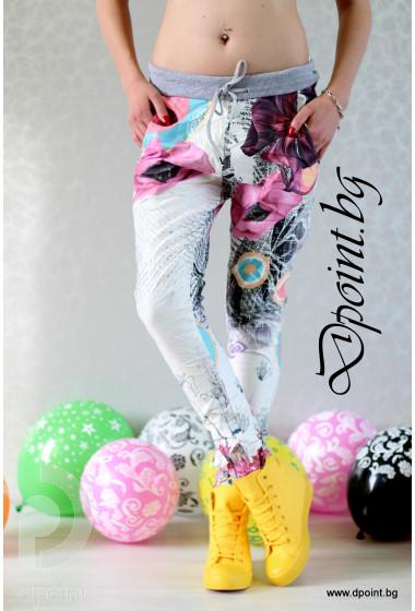 Летен спортен панталон на цветя Бетина