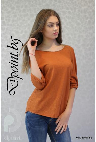 Дамска памучна блуза Хели