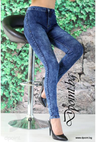 Дамски дънки с висока талия Пламена