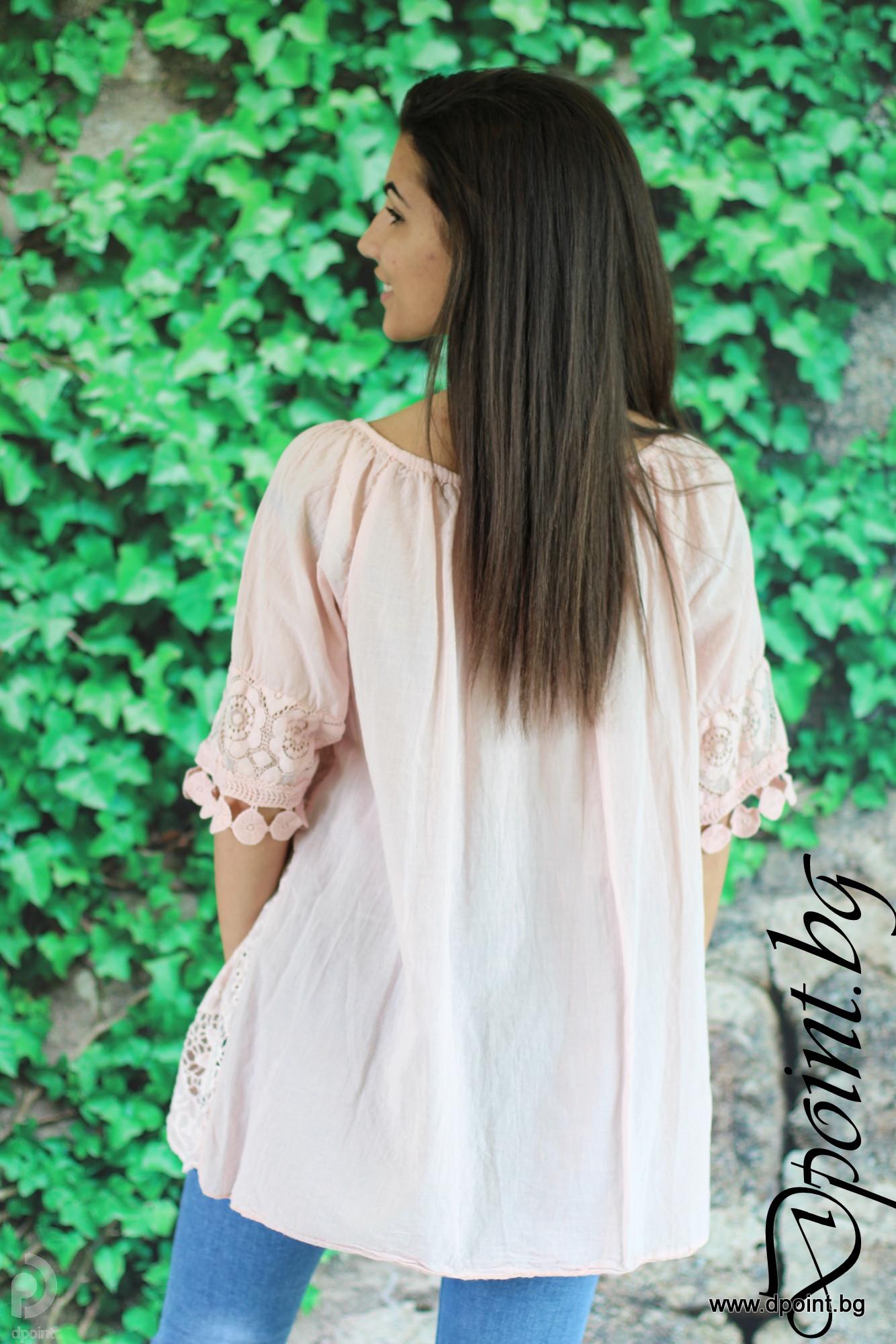 f2f5ddd9117 Блуза от бродиран памук Ивета