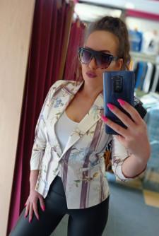 Стилно дамско сако в нежен десен Кармен