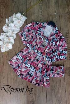 Дамска риза във флорален десен с чантичка Хана