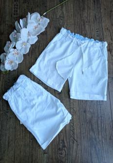 Къс бял панталон от памучна материя Джена