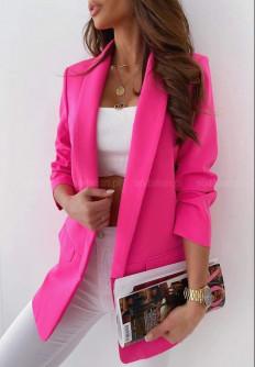 Елегантно дамско едноцветно сако Изабела