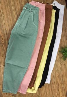Цветни дамски дънки с широка кройка Джена