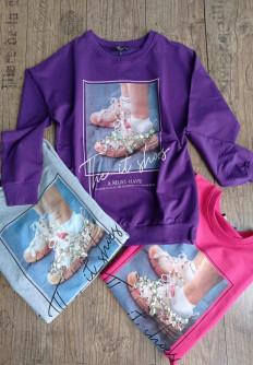 Пролетна блуза с ефектна щампа Кейтлин