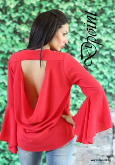 Елегантна блуза с красив гръб Лоли
