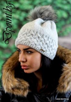 Плетена дамска шапка Мелиса