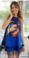 Лятна рокля с апликация и тюл Берта