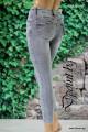 Дамски сиви зимни дънки  Рени