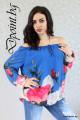 Красива блуза на цветя Евелин