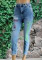 Дамски дънки с ефектни щампи Жаклин