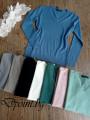 Дамска изчистена блуза с остро деколте Хана