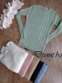 Еластична дамска блуза на плетеници Даян