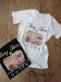 Дамска тениска с апликация с цветя Елза
